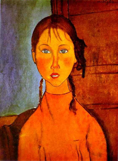 a.Amedeo Clemente Modigliani.Girl with Braids.JPG